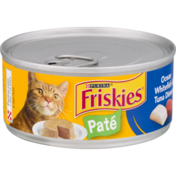 Photo of Purina Friskies Ocean Whitefish & Tuna Dinner Classic Pate Cat Food