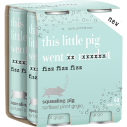 Photo of Squealing Pig Spritzed Pinot Grigio 250ml 4 Pack