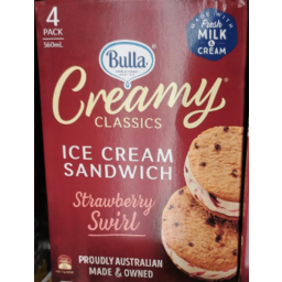 Photo of Bulla Creamy Classics Sandwich Neapolitan 4pk