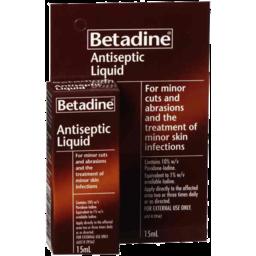 Photo of Betadine Antiseptic Liquid 15ml