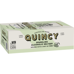 Photo of Quincy Sparkling Alcoholic Seltzer Lime Cans