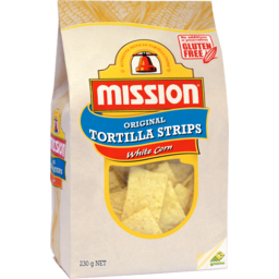 Photo of Mission Tortilla Strips White Corn 230g