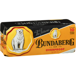 Photo of Bundaberg Overproof Rum & Cola 375ml 10 Pack