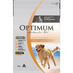 Photo of Optimum Dog Beef Vegetable & Rice 3kg 3kg