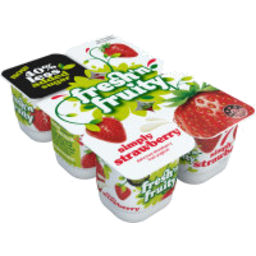 Photo of Fresh'n Fruity 40% Less Sugar Yoghurt Strawberry 6 Pack