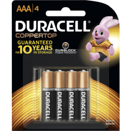 Photo of Duracell Coppertop Batteries Aaa 4 Pack