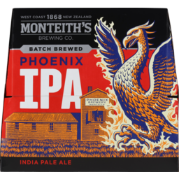 Photo of Monteith's Phoenix IPA 330ml Bottles 12 Pack