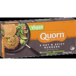 Photo of Quorn Vegan Hot & Spicy Burgers 264g