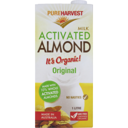 Photo of Pure Harvest Milk Activated Almond Original 1l