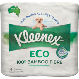 Photo of Kleenex Eco 100% Bamboo Fibre Toilet Tissue 4 Pack