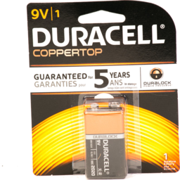 Photo of Duracell Alkaline 9v Batteries 1 Count
