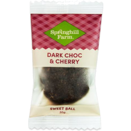 Photo of Springhill Dark Choc & Cherry Ball 30gm