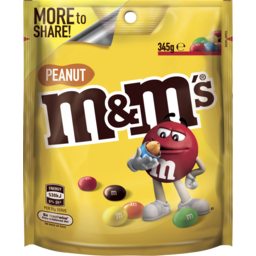 Photo of M&M's Peanut Chocolate Large Bag 345g
