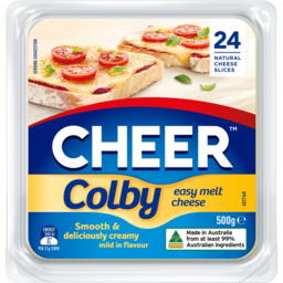 Photo of Cheer Colby Cheese Slices 24 Pack 500g