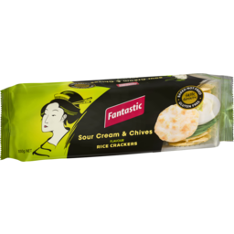 Photo of Fantastic Rice Crackers Sour Cream & Chives 100g