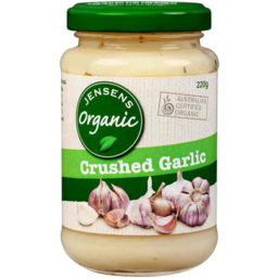 Photo of Jensens Organic Crushed Garlic (220g)