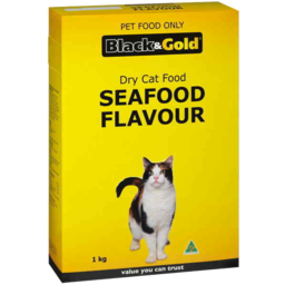 Photo of Black & Gold Cat Food Dry Seafood 1kg