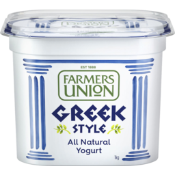 Photo of Farmers Union Greek Style Natural Yoghurt 1kg