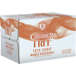 Photo of Vodka Cruiser Sugar Free Mango Raspberry 275ml 24 Pack