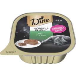 Photo of Dine Wet Cat Food Chicken In Jelly 85g Tray