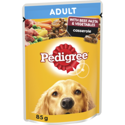 Photo of Pedigree Wet Dog Food Beef, Pasta & Vegetables Casserole 85g Pouch