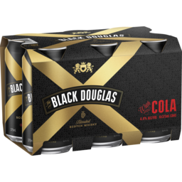 Photo of Black Douglas & Cola Cans