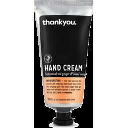 Photo of Thankyou Hand Cream Ginger & Blood Orange 70ml
