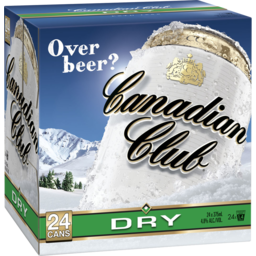 Photo of Canadian Club & Dry 24 X 375ml Cans