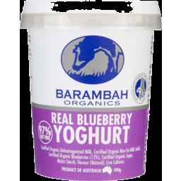 Photo of Barambah Yoghurt - Real Blueberry
