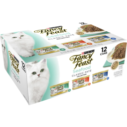 Photo of Fancy Feast Classic Recipe Seafood Classic Pate Collection Wet Cat Food 12x85g