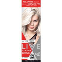 Photo of Schwarzkopf Live For Blonde Or Grey Semi Permanent Hair Colour Resealable Tube 1application