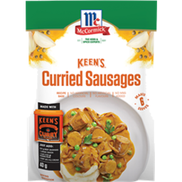 Photo of Mccormick Keens Curried Sausages 40gm