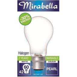 Photo of Mirabella Energy Saver Halogen Pearl Bayonet Cap 42w