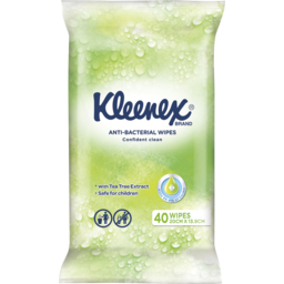 Photo of Kleenex Anti-Bacterial Wipes, 40 Wipes