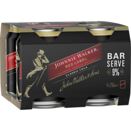 Photo of Johnnie Walker & Cola Bar Serve 9% Cans