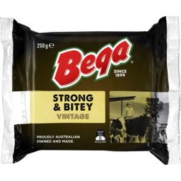 Photo of Bega Strong & Bitey Cheese Block 250g