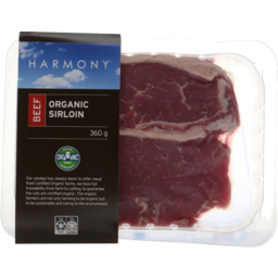 Photo of Harmony Organic Beef Sirloin 360g