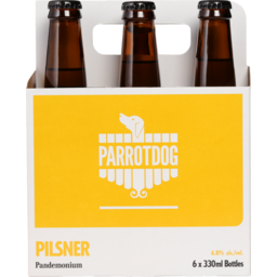 Photo of Parrot Dog Pandemonium Pilsner 330ml Bottles 6 Pack