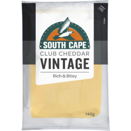 Photo of South Cape Vintage Club Cheddar 140gm