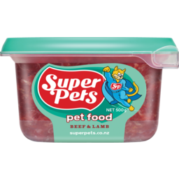 Photo of Superpets Dog Food Chunky Beef & Lamb 500g