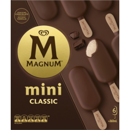 Photo of Magnum Ice Cream Dessert Sticks Classic 6 Pack 360ml