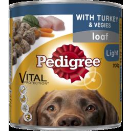 Photo of Pedigree Can Loaf Light Turkey & Vegies 700g