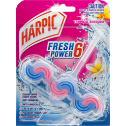 Photo of Harpic Fresh Power Toilet Block Cleaner Tropical Blossom 39g