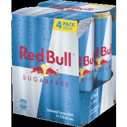 Photo of Red Bull Energy Drink Sugar Free 4 x 250ml