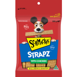 Photo of Schmackos Strapz With Chicken Treats For Dogs 200g