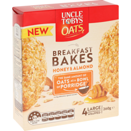 Photo of Uncle Tobys Oats Breakfast Bakes Honey & Roasted Almond 4x65g