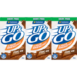 Photo of Sanitarium Up & Go Choc Ice Dairy Free Flavour Liquid Breakfast 3x250ml