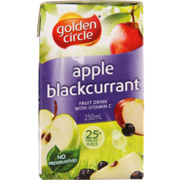 Photo of Golden Circle Apple Blackcurrant 6x250ml