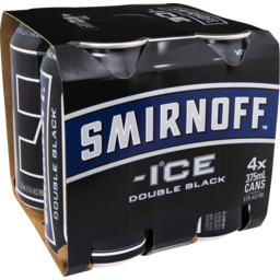 Photo of Smirnoff Ice Double Black Can 375ml 4 Pack