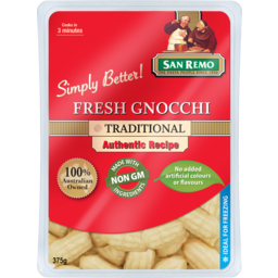 Photo of San Remo Fresh Gnocchi Traditional 375g